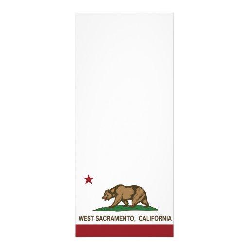 Bandera Sacramento del oeste del estado de Califor Invitaciones Personales