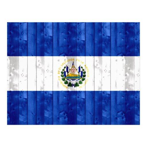 Bandera salvadoreña de madera tarjetas publicitarias