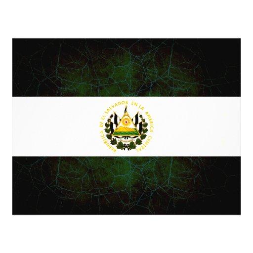 Bandera salvadoreña nerviosa moderna tarjetas publicitarias