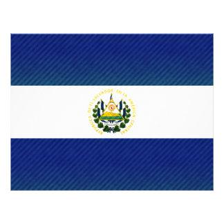 Bandera salvadoreña pelada moderna tarjetón