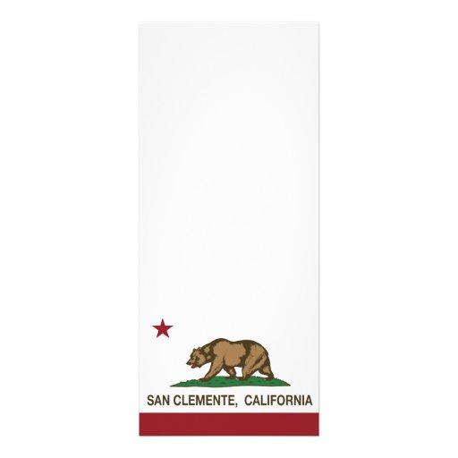Bandera San Clemente del estado de California Comunicados