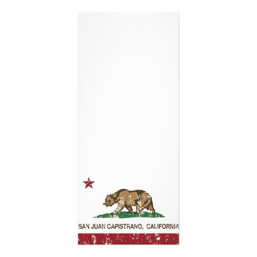 Bandera San Juan Capistrano del estado de Californ Comunicado Personal