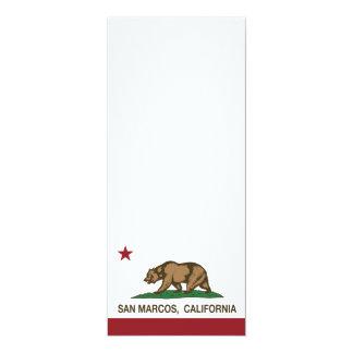 Bandera San Marcos del estado de California Invitacion Personalizada