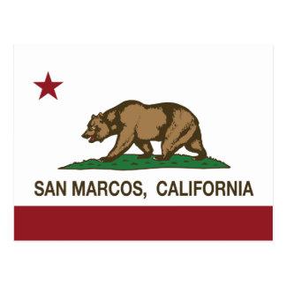 Bandera San Marcos del estado de California Postales