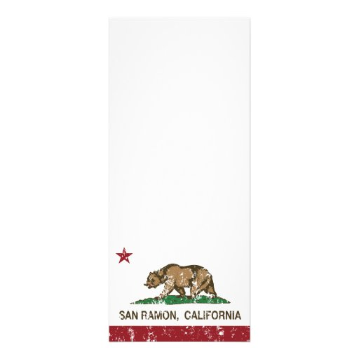 Bandera San Ramon del estado de California Invitacion Personalizada