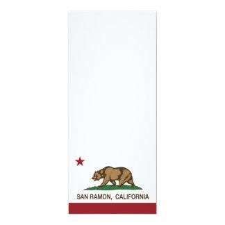Bandera San Ramon del estado de California Invitación 10,1 X 23,5 Cm