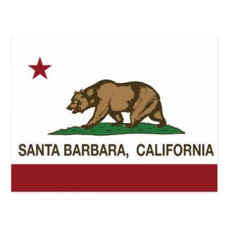 Bandera Santa Barbara del estado de California Tarjetas Postales