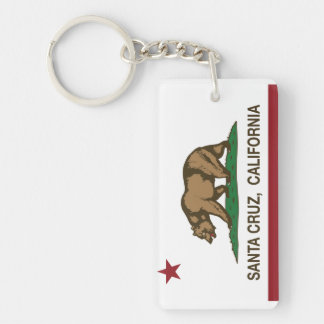 Bandera Santa Cruz del estado de California Llavero Rectangular Acrílico A Doble Cara