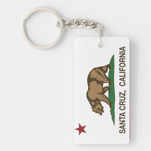 Bandera Santa Cruz del estado de California Llaveros
