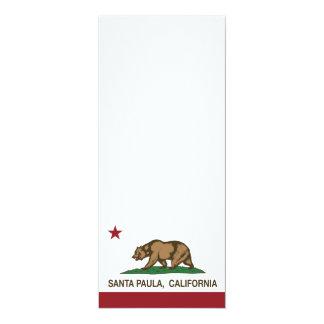 Bandera Santa Paula del estado de California Invitación 10,1 X 23,5 Cm