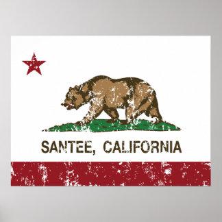 Bandera Santee del estado de California Posters