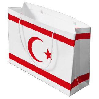 Bandera septentrional de Chipre Bolsa De Regalo Grande