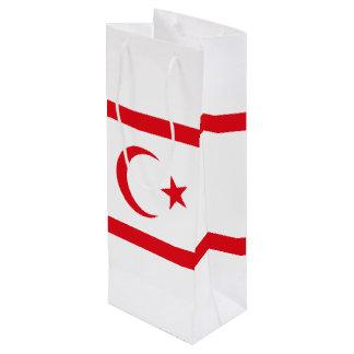 Bandera septentrional de Chipre Bolsa Para Vino