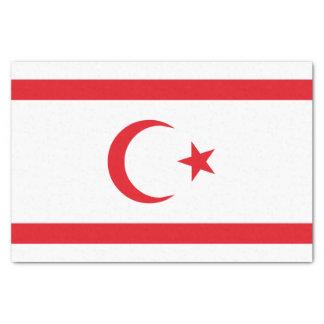 Bandera septentrional de Chipre Papel De Seda