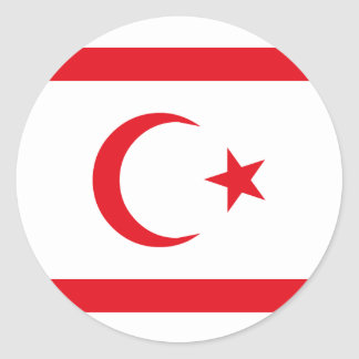 Bandera septentrional de Chipre Pegatina Redonda