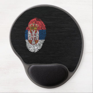Bandera servia de la huella dactilar del tacto alfombrilla de ratón de gel