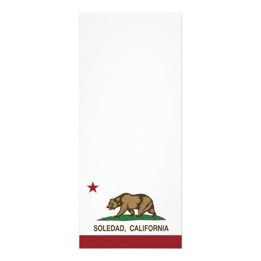 Bandera Soledad del estado de California Invitaciones Personales