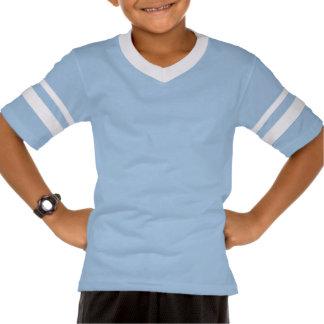 Bandera sonriente redonda de Argentina Camisetas