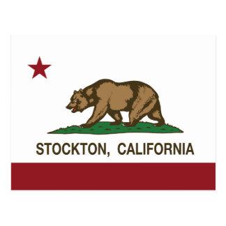 Bandera Stockton del estado de California Postal