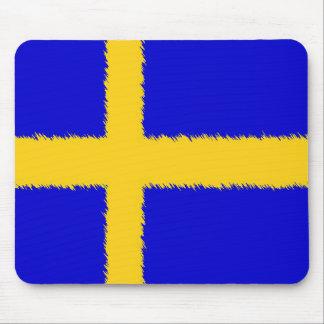 Bandera sueca alfombrilla de ratón