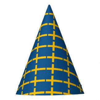 Bandera sueca gorro de fiesta