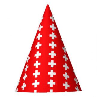 Bandera suiza gorro de fiesta