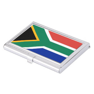 Bandera surafricana cajas de tarjetas de visita
