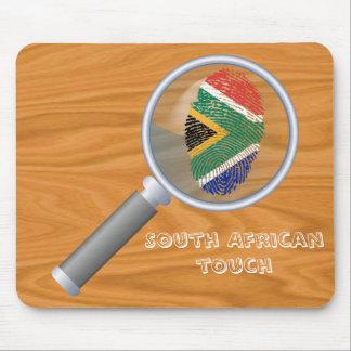 Bandera surafricana de la huella dactilar del alfombrilla de ratón