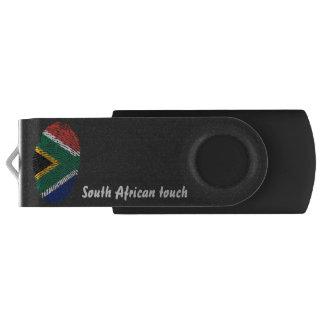 Bandera surafricana de la huella dactilar del memoria USB