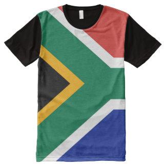 Bandera surafricana por completo camiseta con estampado integral