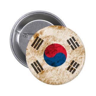 Bandera surcoreana rugosa pins