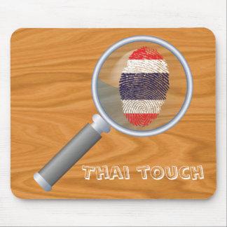 Bandera tailandesa de la huella dactilar del tacto alfombrilla de ratón