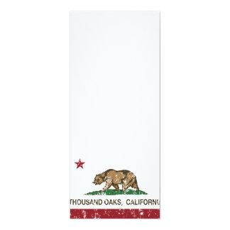Bandera Thousand Oaks del estado de California Invitación 10,1 X 23,5 Cm