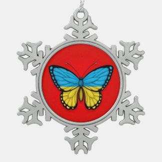 Bandera ucraniana de la mariposa en rojo
