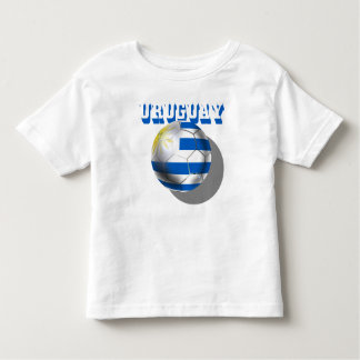 Bandera uruguaya del amor del fútbol del futbol camiseta de bebé