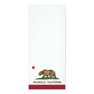 Bandera Vacaville del Stat de California Invitación 10,1 X 23,5 Cm