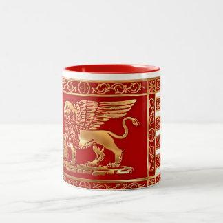 Bandera veneciana taza de café de dos colores