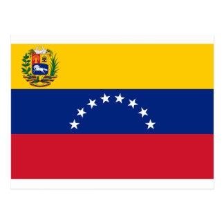 Bandera venezolana - bandera de Venezuela - Postal