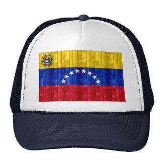Bandera venezolana de madera gorra