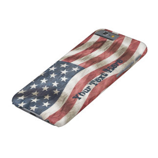 Bandera vieja de los E.E.U.U. de la gloria del Funda Barely There iPhone 6