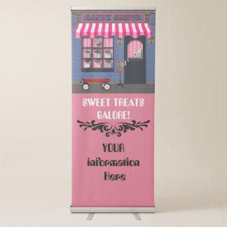 Bandera vieja del negocio del Shoppe del caramelo Pancartas Retráctiles