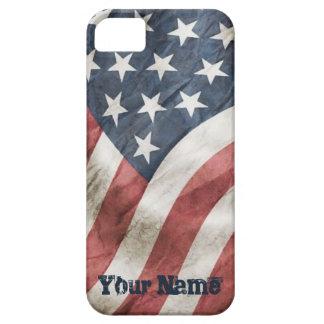 Bandera vieja retra de los E.E.U.U. de la gloria Funda Para iPhone SE/5/5s