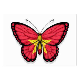 Bandera vietnamita de la mariposa tarjeta de visita