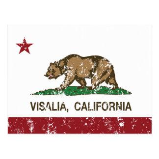 Bandera Visalia del estado de California Postal