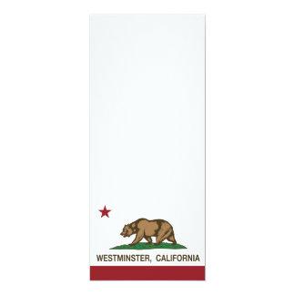 Bandera Westminster del estado de California Invitación 10,1 X 23,5 Cm