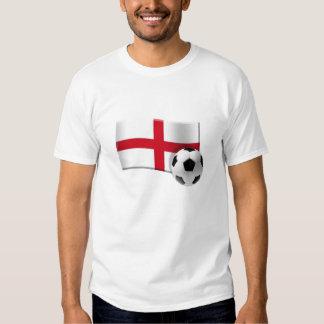 Bandera y balón de fútbol de Inglaterra Camiseta