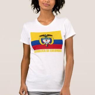 Bandera y escudo de armas de Colombia Camiseta