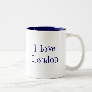 Bandera y frase de Londres Inglaterra Tazas De Café