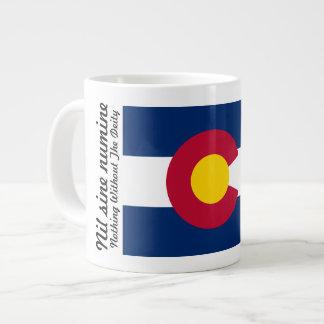 Bandera y lema de Colorado taza de 20 onzas