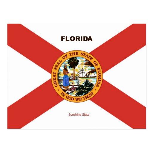 Bandera y lema de la Florida Tarjetas Postales
